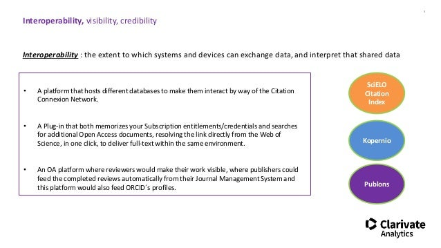 Isabelle Reiss - Interoperability, visibility, credibility Slide 3