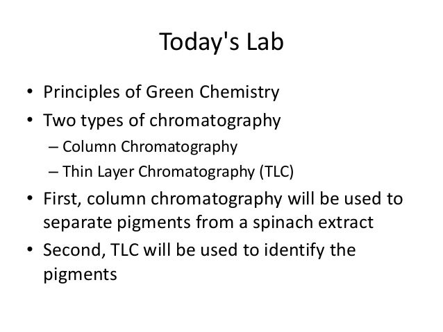 """column chromatography of plant pigments Chromatography has been a fundamental technique used for chemical  """" supermarket column chromatography of leaf pigments"""" revisited:."""