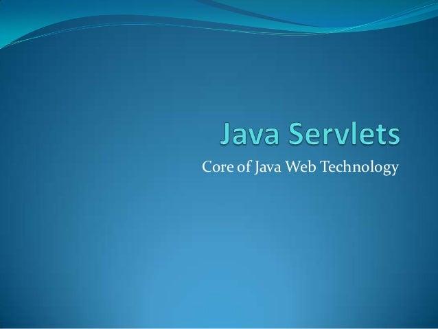 Core of Java Web Technology