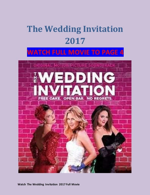 Watch The Wedding Invitation 2017 a full movie of moana