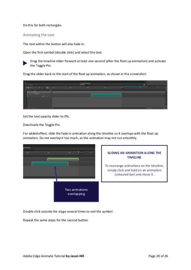 Create an Animated Navigation Bar - Edge Animate Tutorial