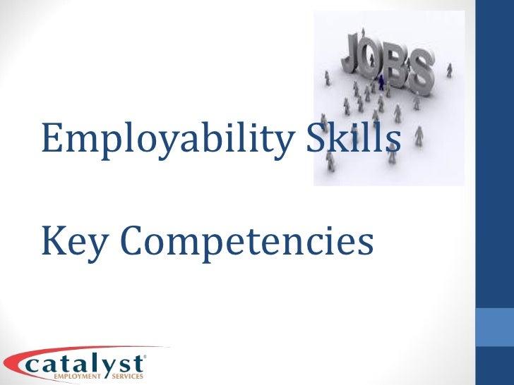 Employability Skills Key Competencies