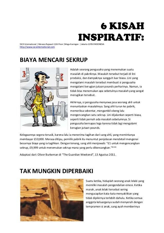 6 KISAH INSPIRATIF:SSCX International | Menara Rajawali 11th Floor |Mega Kuningan | Jakarta 12950 INDONESIA http://www.ssc...