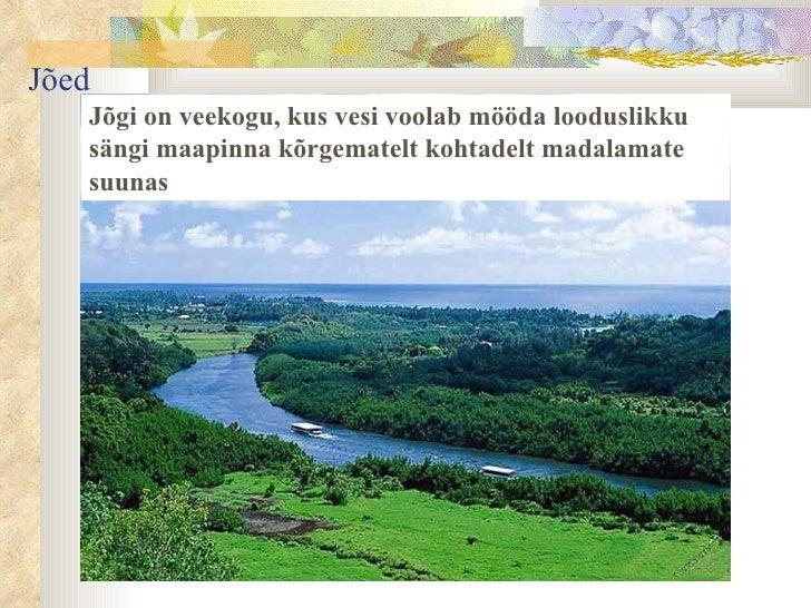 Jõgi on veekogu, kus vesi voolab mööda looduslikku sängi maapinna kõrgematelt kohtadelt madalamate suunas