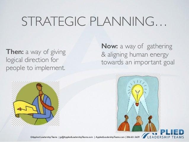 ©Applied Leadership Teams   jp@AppliedLeadershipTeams.com   AppliedLeadershipTeams.com   206.651.5639 STRATEGIC PLANNING… ...