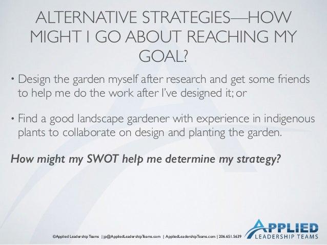 ©Applied Leadership Teams   jp@AppliedLeadershipTeams.com   AppliedLeadershipTeams.com   206.651.5639 ALTERNATIVE STRATEGI...
