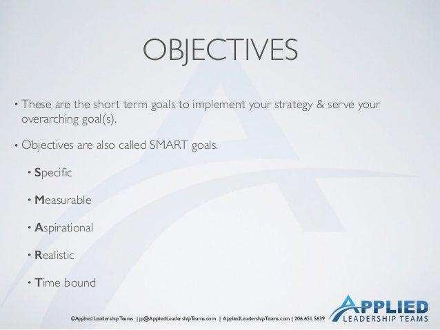 ©Applied Leadership Teams   jp@AppliedLeadershipTeams.com   AppliedLeadershipTeams.com   206.651.5639 OBJECTIVES • These a...