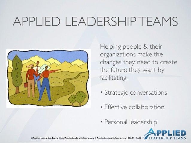 ©Applied Leadership Teams   jp@AppliedLeadershipTeams.com   AppliedLeadershipTeams.com   206.651.5639 APPLIED LEADERSHIPTE...