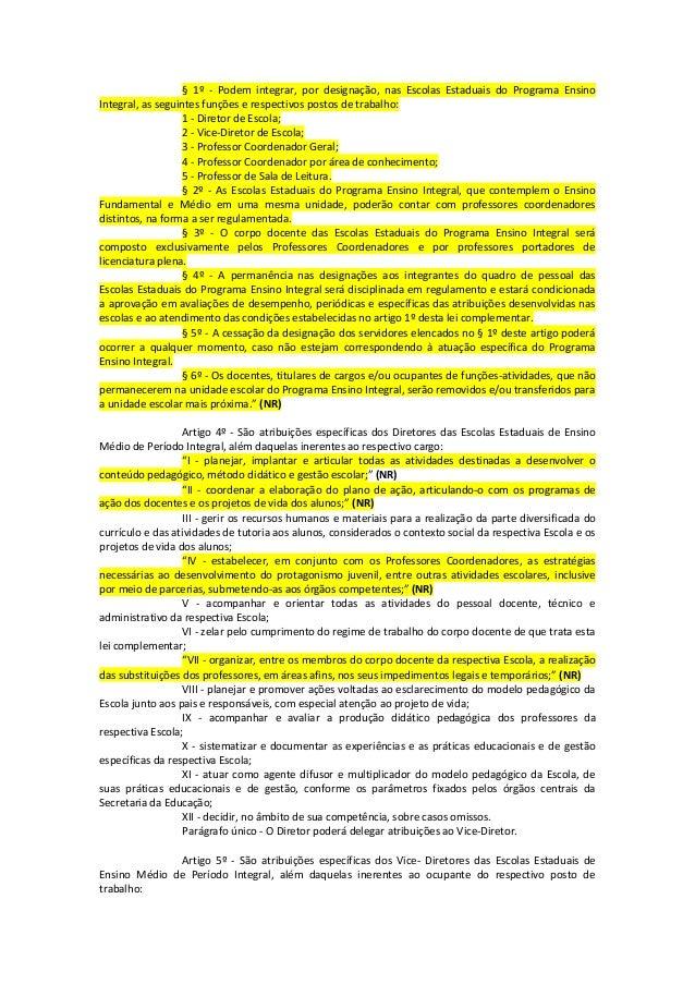 6  lei complementar nº 1 164 de 04 01-2012 - com as alterações Slide 2