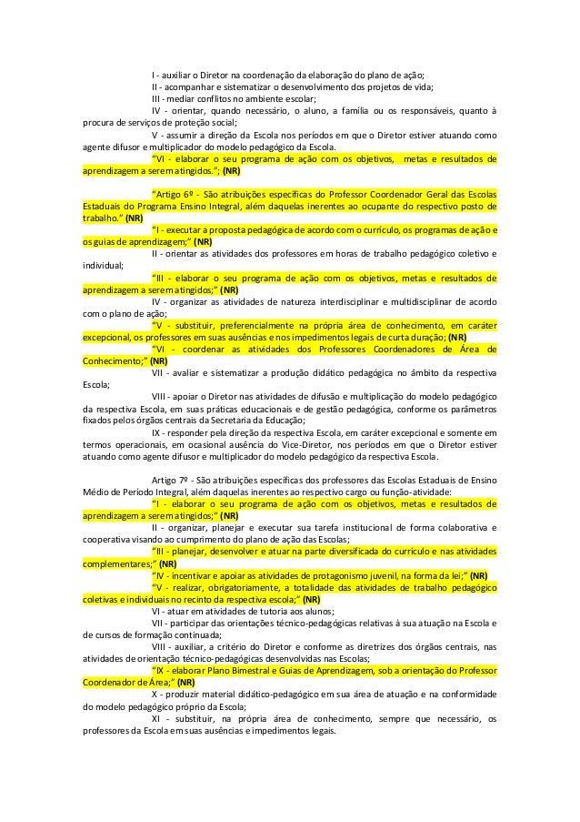 6  lei complementar nº 1 164 de 04 01-2012 - com as alterações Slide 3