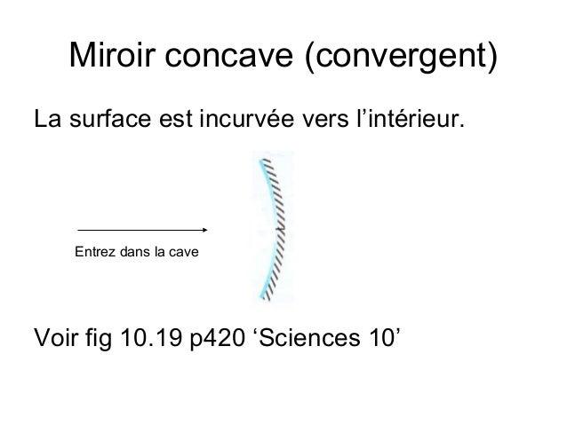 6 les miroirs courbes for Miroir divergent