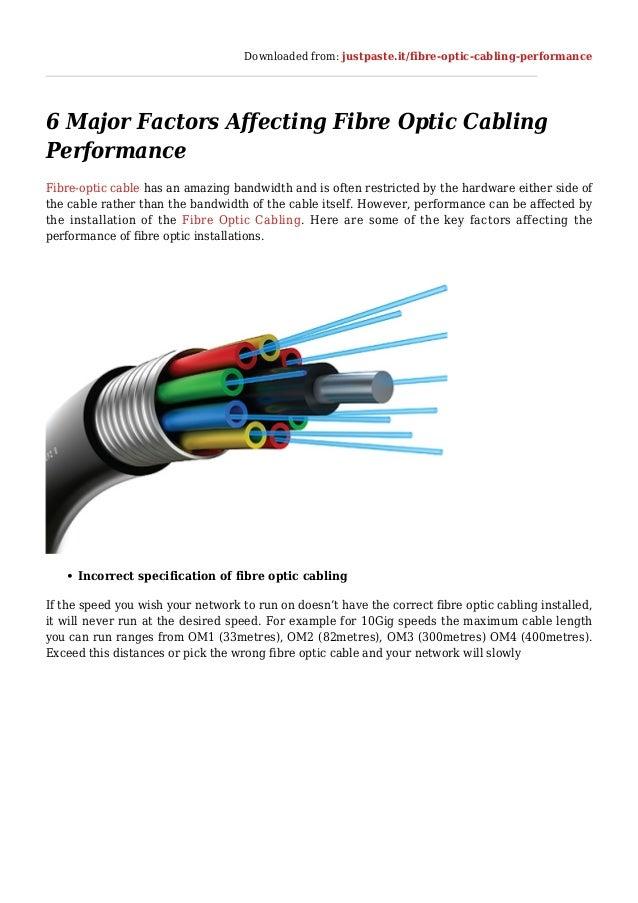 Downloaded from: justpaste.it/fibre-optic-cabling-performance 6 Major Factors Affecting Fibre Optic Cabling Performance Fi...