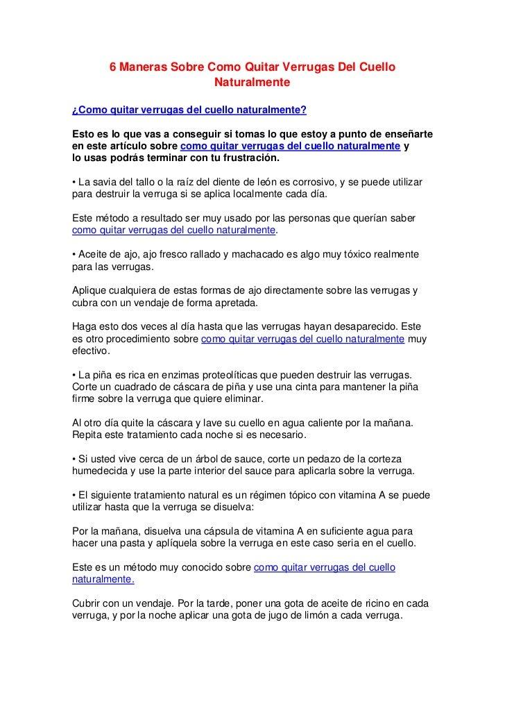 6 Maneras Sobre Como Quitar Verrugas Del Cuello                         Naturalmente¿Como quitar verrugas del cuello natur...