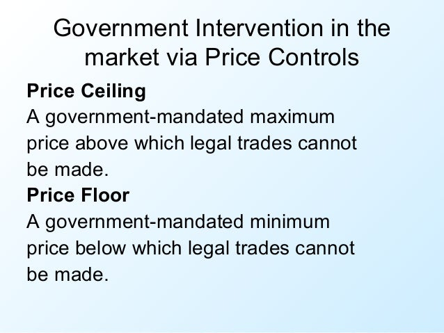 government intervention in pricing