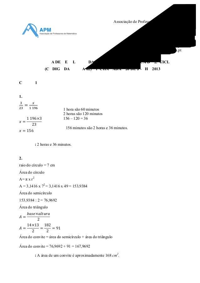 Associação de Professores de Matemática Contactos: Rua Dr. João Couto, n.º 27-A 1500-236 Lisboa Tel.: +351 21 716 36 90 / ...