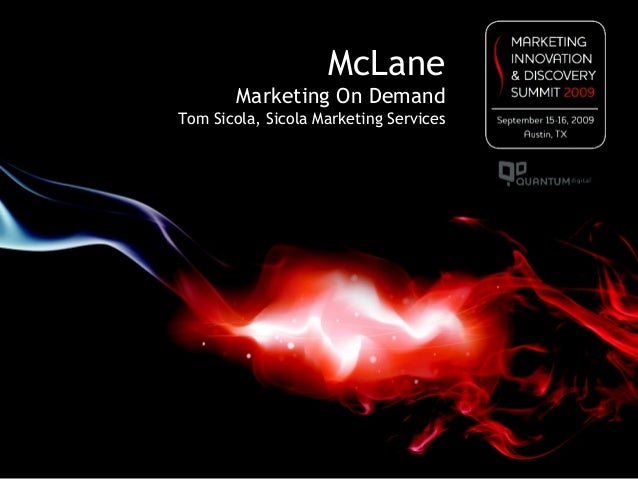 McLane Marketing On Demand Tom Sicola, Sicola Marketing Services