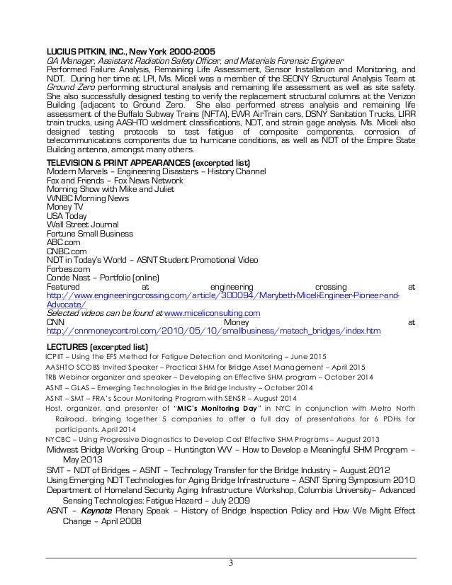 Miceli master resume for Master motors of buffalo inc