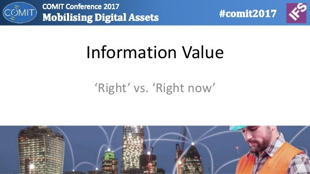 Information Value 'Right' vs. 'Right now'