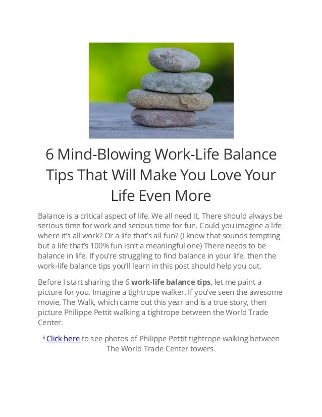 6 Mind-Blowing Work-Life Balance Tips That Will Make You ...