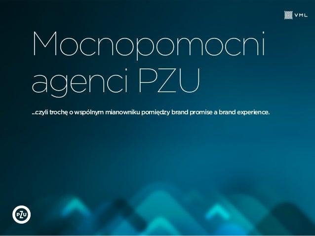 Mocnopomocni agenci PZU ...czyli trochę o wspólnym mianowniku pomiędzy brand promise a brand experience.