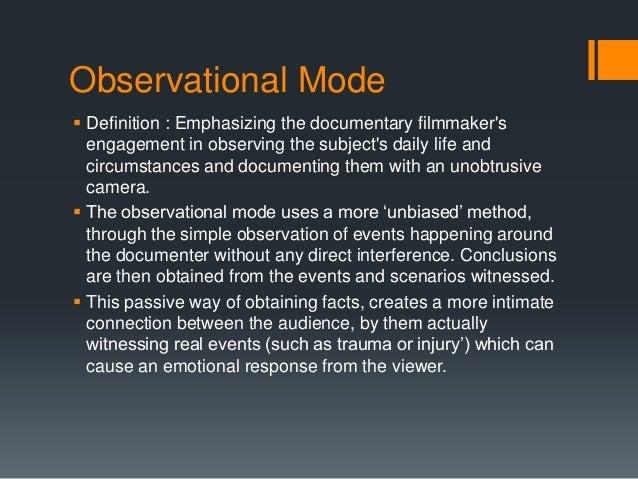 mode of observation
