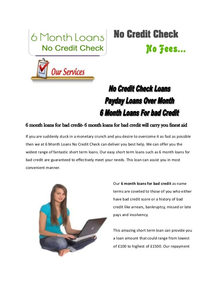 6 month loans for bad credit- 6 month loans for bad credit