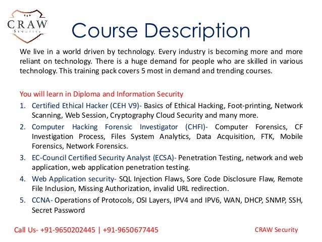 Diploma In Information Security Training and Certification