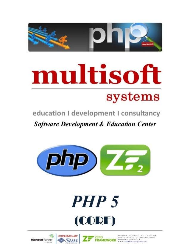 Software Development & Education Center  PHP 5 (CORE)