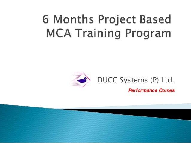 DUCC Systems (P) Ltd. Performance Comes