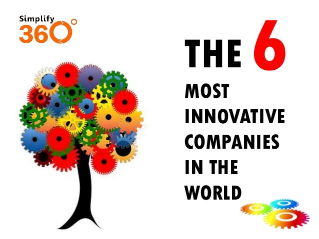 THE MOST INNOVATIVE COMPANIES IN THE WORLD 6