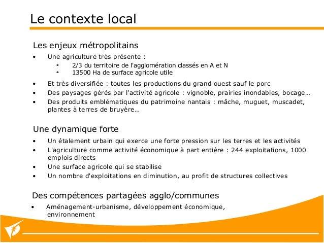 Forum Nantes ville comestible 24/01/15 : données et actions de Nantes Métropole sur l'agriculture périurbaine Slide 2