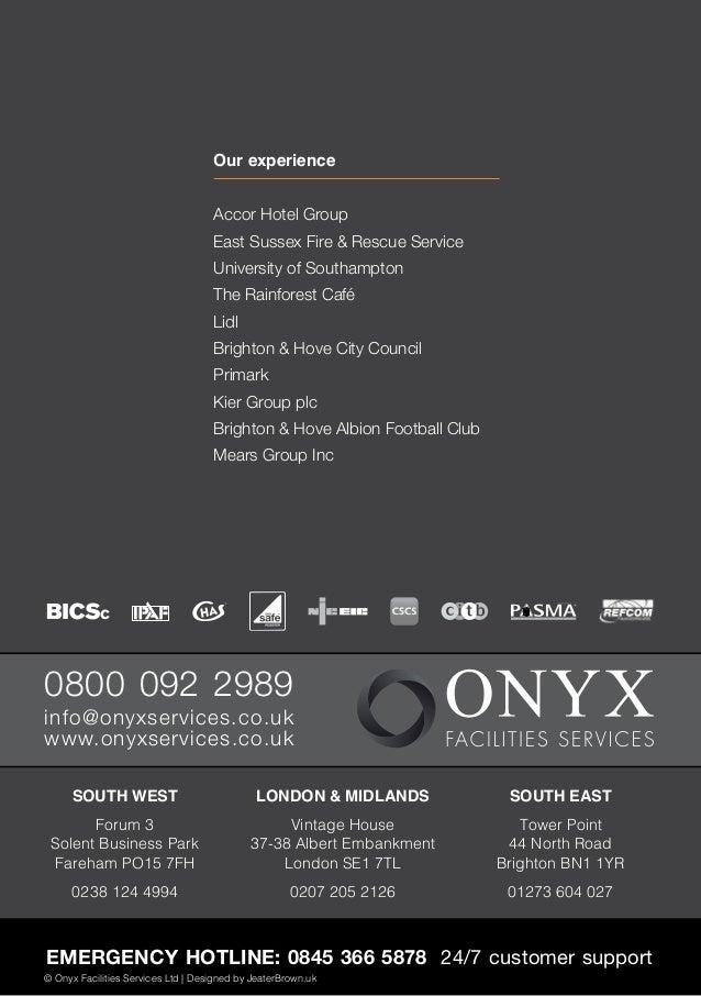 Onyx Facilities Services Brochure