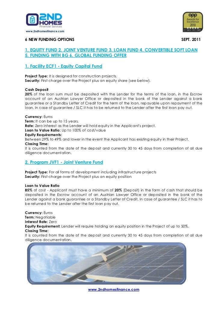 www.2ndhomesfinance.com6 NEW FUNDING OPTIONS                                                                  SEPT. 20111....