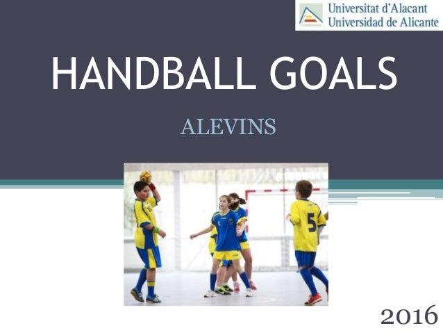 HANDBALL GOALS 2016 ALEVINS