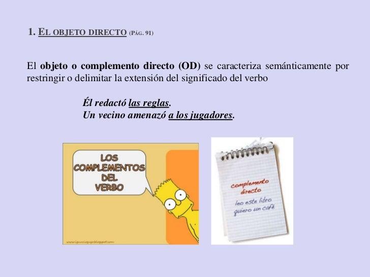 El objeto directo e indirecto Slide 3