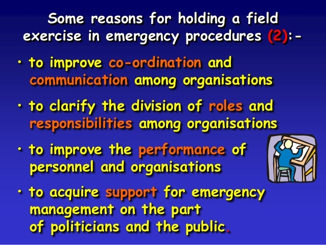 field exercise operations management Modules field exercises aim to provide an opportunity for testing  for all involved  in operations under the eu civil protection mechanism.