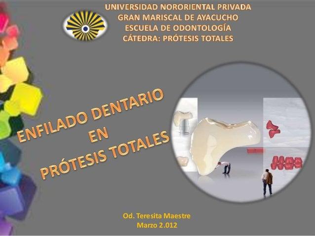 Presentation Title Od. Teresita Maestre Marzo 2.012