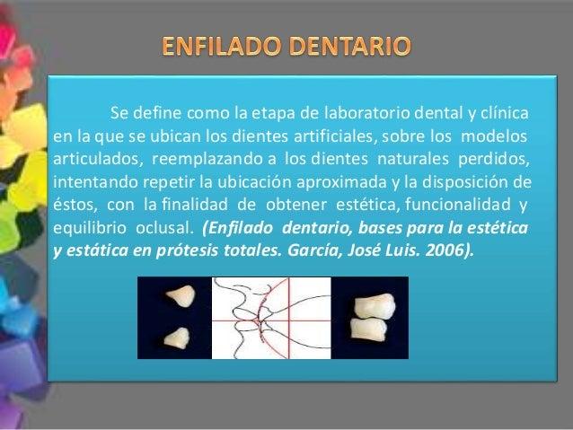Se define como la etapa de laboratorio dental y clínica en la que se ubican los dientes artificiales, sobre los modelos ar...