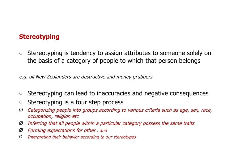 how stereotypes affect