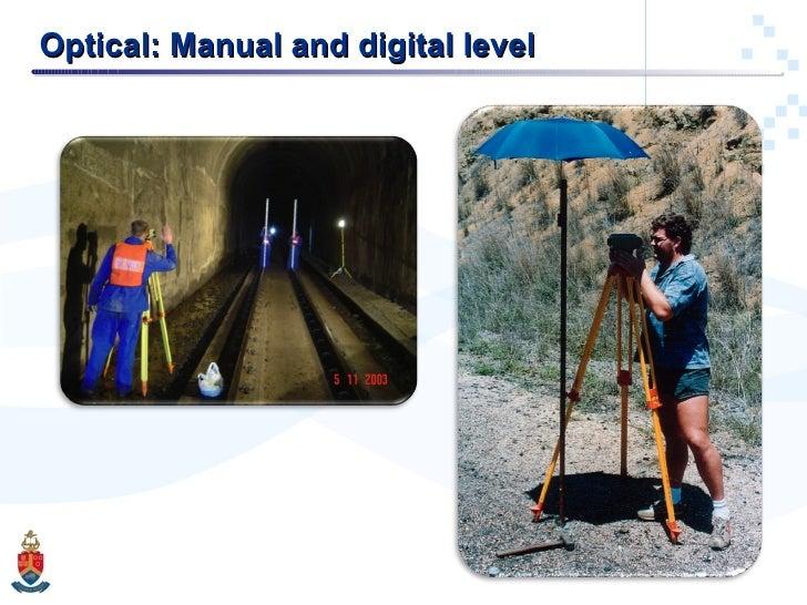 Optical: Manual and digital level