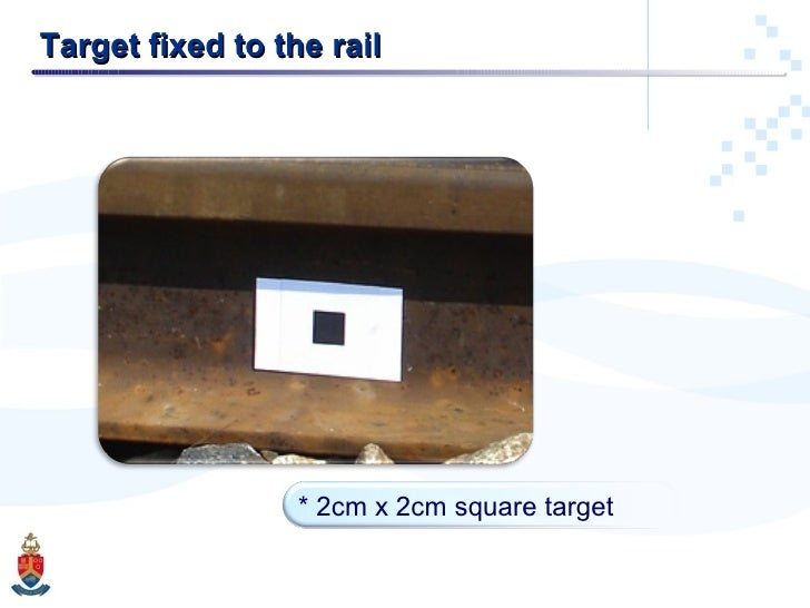 Target fixed to the rail * 2cm x 2cm square target