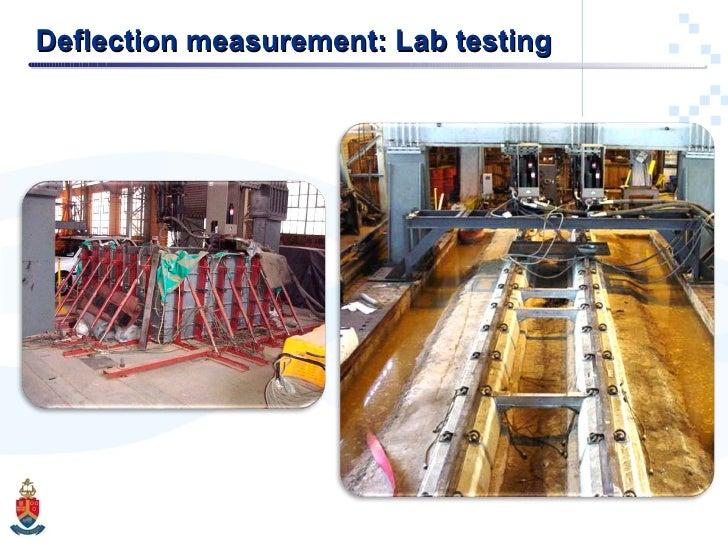 Deflection measurement: Lab testing