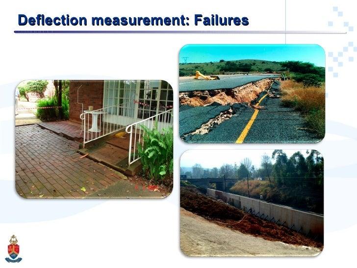 Deflection measurement: Failures