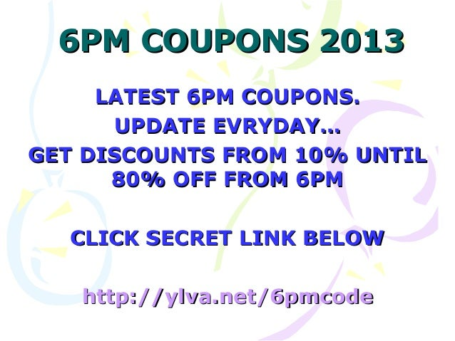 6pm.com discount coupons
