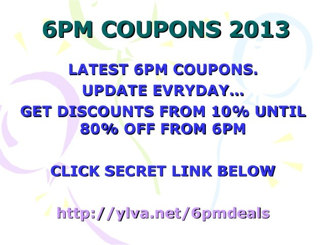 Expired 6PM Promo Codes & Coupon Codes
