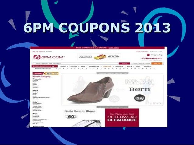 6 pm com coupon code