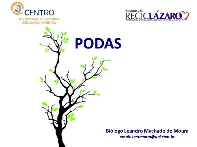 PODAS Biólogo Leandro Machado de Moura email: lammoura@uol.com.br