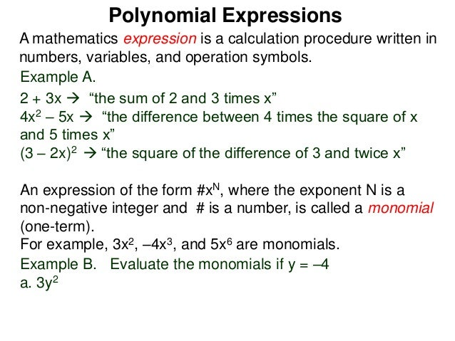 Simplifying Polynomials Worksheet and Answer Key