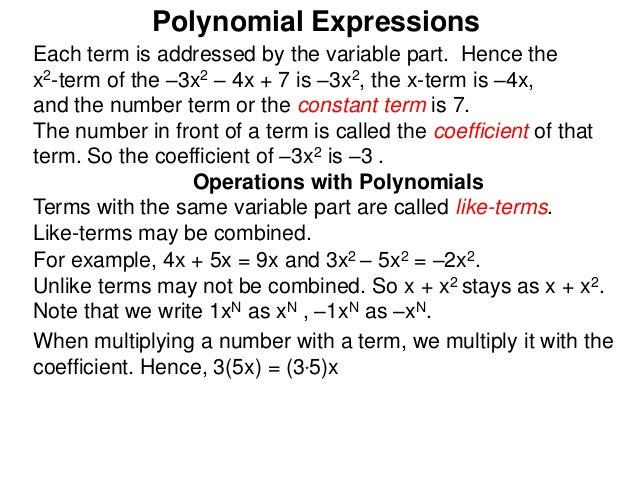 how to solve polynomial expressions