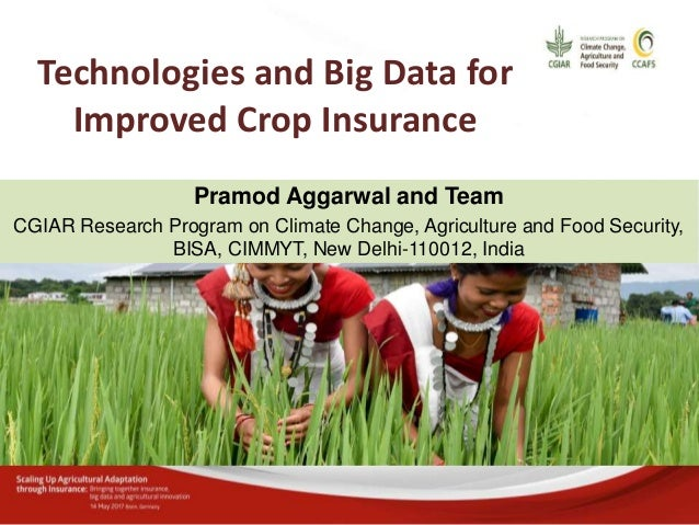Pramod Aggarwal: Technologies and big data for improved crop